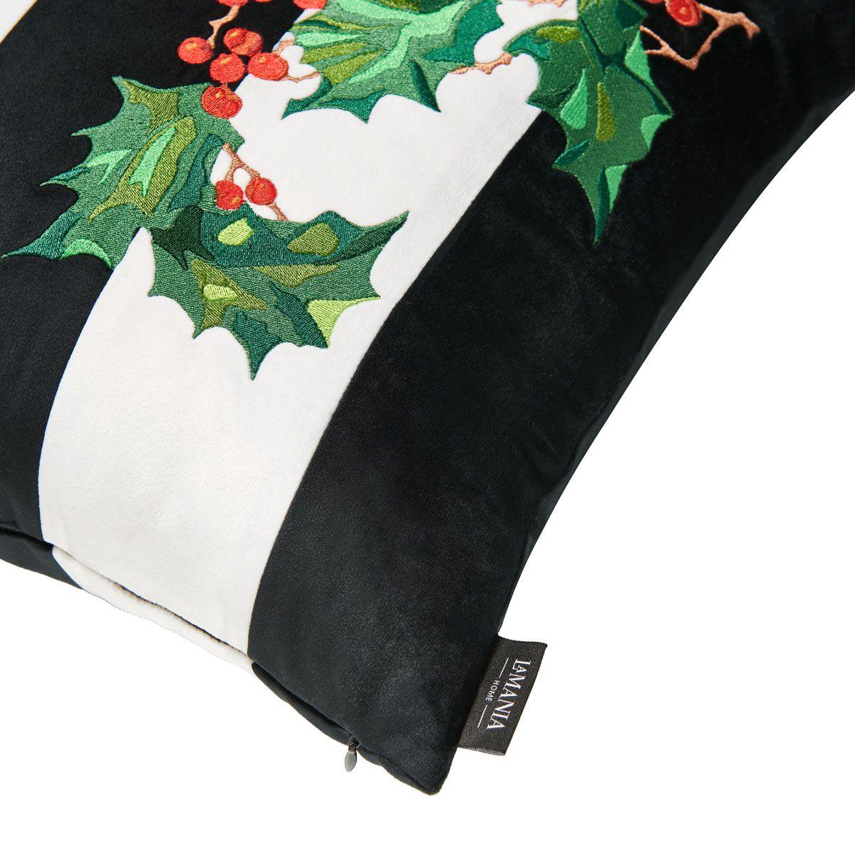 Poduszka stripes happy christmas