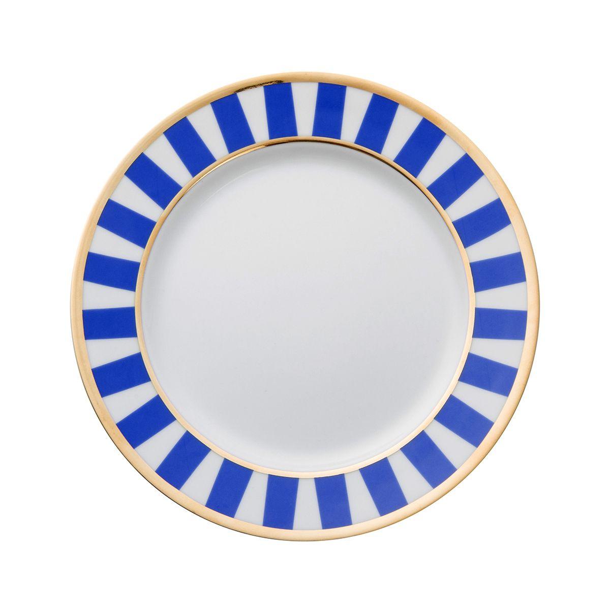 Talerzyki deserowe dla 6 os. Stripes Blue