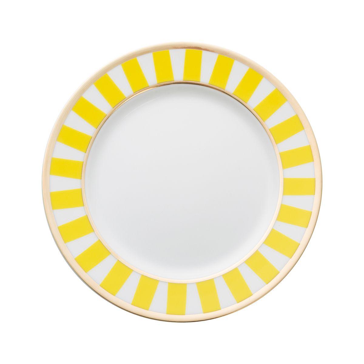 Talerzyki deserowe dla 6 os. Stripes Yellow