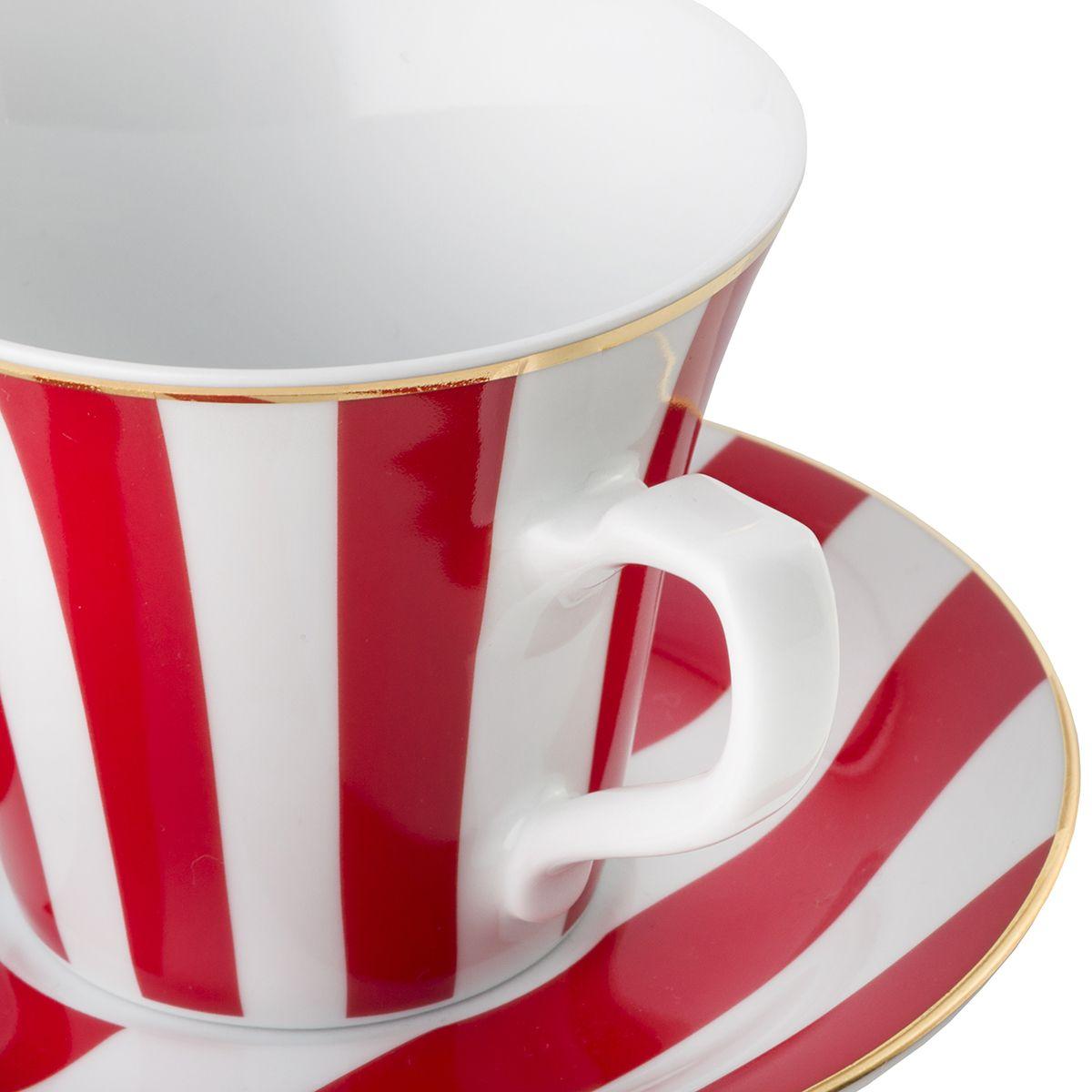 Filiżanka do espresso Stripes Red