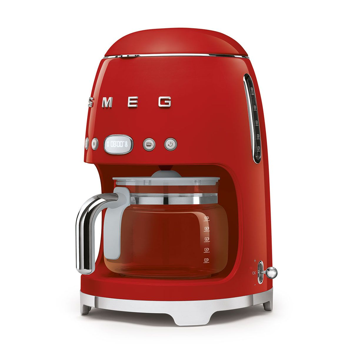 Ekspres do kawy 50's Style przelewowy DCF02 czerwony