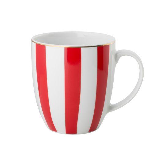 Kubek Stripes Red