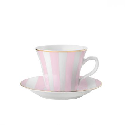 Filiżanka do espresso Stripes Powder Pink