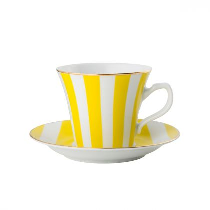 Filiżanka do espresso Stripes Yellow