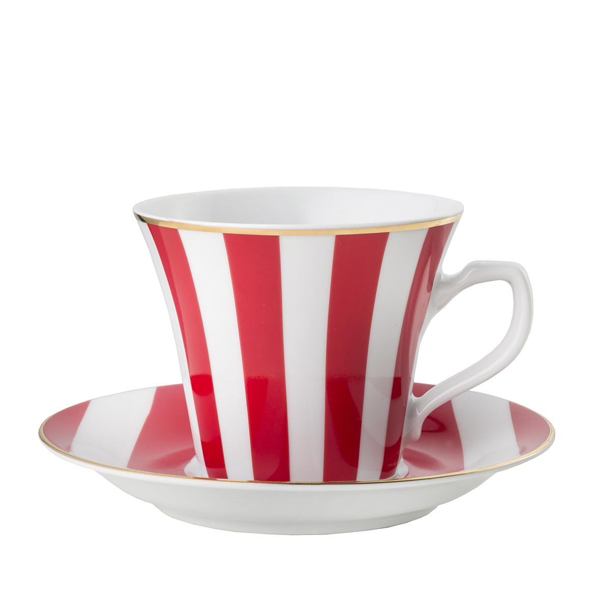 Filiżanka Stripes Red