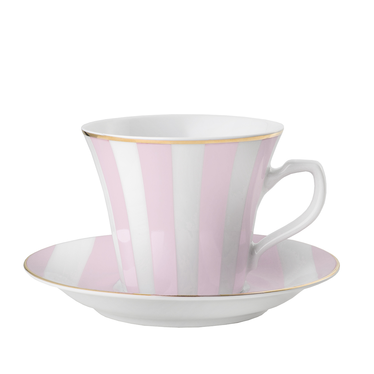 Filiżanka Stripes Powder Pink